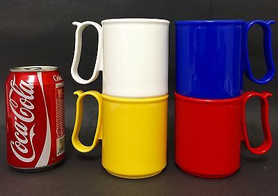 New Limited Tupperware Beverage Mugs Cups With Handle Ear 300ml (4) Set
