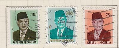 (ID-18) 1980 Indonesia 11stamps President Suharto