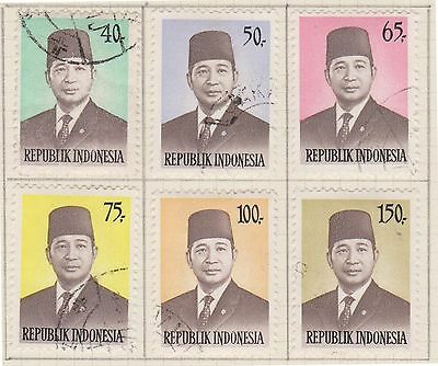 (ID-16) 1974 Indonesia 6set of President Suharto stamps