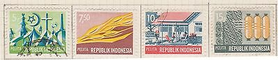 (ID-15) 1969 Indonesia 9stamps partial set of 5year development