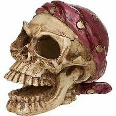 Aquarium Resin Ornament Novelty Pirate Skull Fish Tank Decoration