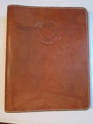"Vintage Southwest Airlines Leather 3 Ring Binder - 9"" X 7"" - Nice - Tub Pa"