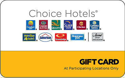 $100 Choice Hotels Gift Card - Mail Delivery