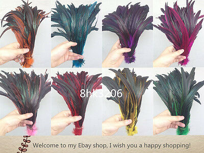 Wholesale high quality 10-100PCS rooster tail feathers 12-14inches/30-35cm
