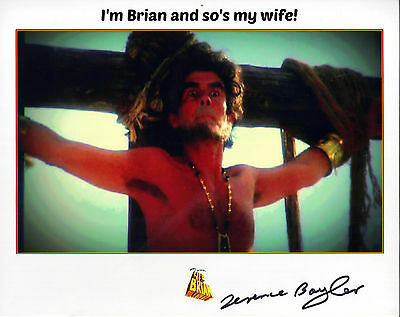 "STUNNING 10"" x 8"" PHOTO (COA) SIGNED ""TTM"" BY TERENCE BAYLER IN ""LIFE OF BRIAN"""