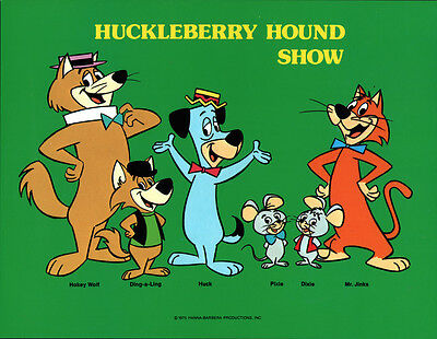 Hanna Barbera STYLE GUIDE PLATE - HUCKLEBERRY HOUND SHOW GANG