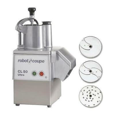 Robot Coupe Veg Prep Machine CL50 Ultra Pizza with 3 Discs, Commercial Equipment