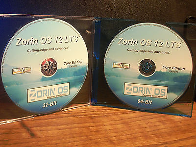 ZORIN OS 12.4 LTS *Core Edition* 32&64-Bit LIVE/Install DVD (BRAND NEW) w/Extras