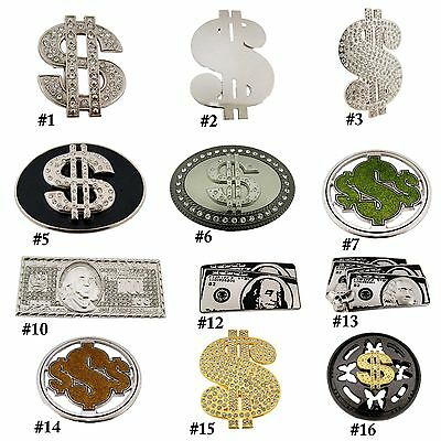 Benjamin Franklin Dollar Belt Buckle Usa American Lot Vintage Western Brass New