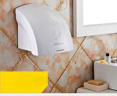 White Heavy Duty Wall Mounted Electric Auto Automatic Warm Air Hand Dryer -1800W