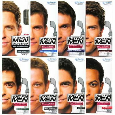 Just For Men Autostop Hair Colourant Dye Stop Grey Hair - Various Shades