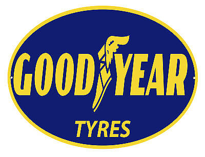 Goodyear Tyres Oval Metal Sign.classic Garage Signs.workshop Sign.