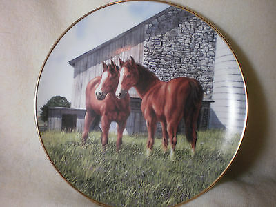 "Danbury Mint ""the Yearlings""by Patterson Plate 1991 Limited Edition"