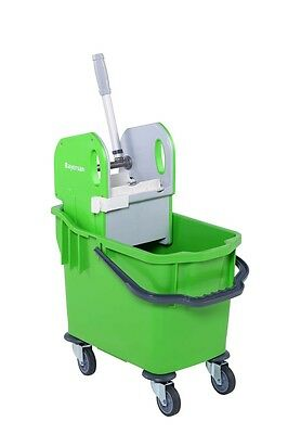 25 Litres Strong Kentucky mop bucket with wheels/casters -Strong Wringer - Green