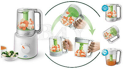 Philips Avent Easy Pappa 2 In 1 Scf870/20 Robot Cucina Vapore Cuoci Pappe Bimbo