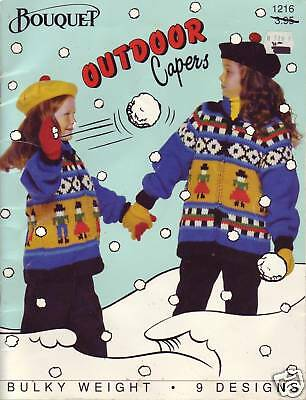 Bouquet Outdoor Capers children's sweater knitting pattern book