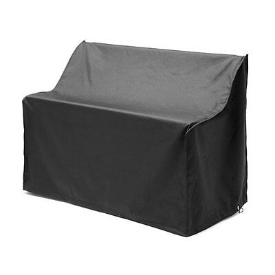 Black Waterproof 3 Seater Bench Cover Garden Furniture Heavy Duty PU Fabric