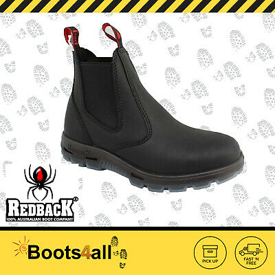 Redback UBBK Mens Work Easy Escape Bobcat Boots Black Non Steel Toe AU Size
