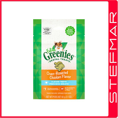 2 x Greenies Cat Feline 71g 71 gms Chicken