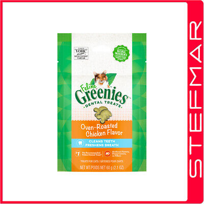 2 x Greenies Cat Feline 85g 85 gms Chicken