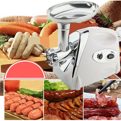 2800W Electric Carrot Meat Pork Grinder Sausage Maker Filler Mincer Stuffer