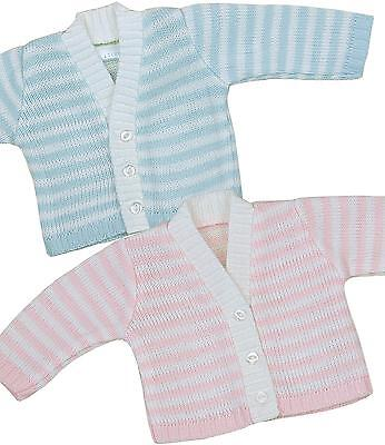 BabyPrem Baby Clothes Premature Early Boys Girls Striped Knitted Cardigan Cardi