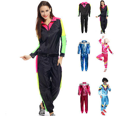 80s Height Fashion Womens Mens Shell Suit Scouser Tracksuit Costume Fancy Dress
