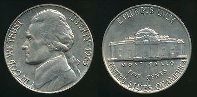 United States, 1963 5 Cents, Jefferson Nickel - Uncirculated
