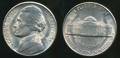 United States, 1951-S 5 Cents, Jefferson Nickel - Uncirculated