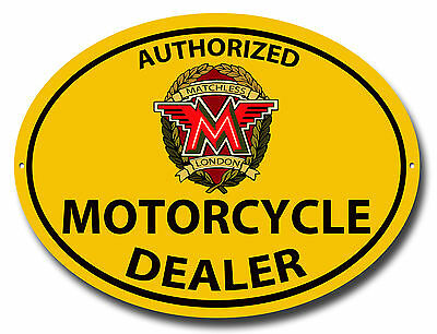Authorized Matchless Motorcycle Dealer Oval Metal Sign.vintage Motorcycles.