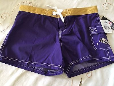 $38 Nfl Apparel Baltimore Raven Womem Swim Shorts Style Nmj00142 M&l