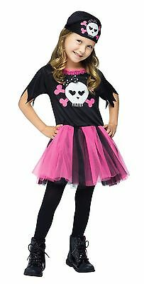 Girls Tutu Pirate Costume Cute Frilly Fancy Dress Toddler Child Kids Pink Black  sc 1 st  PicClick & GIRLS TUTU PIRATE Costume Cute Frilly Fancy Dress Toddler Child Kids ...