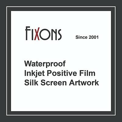 "Waterproof Inkjet Screen Printing Positive Film 13""x19"" 100 Sheets"
