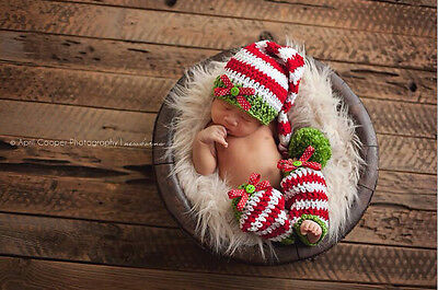 Newborn Baby  Infant Knitted Crochet Costume Photo Photography Prop A36