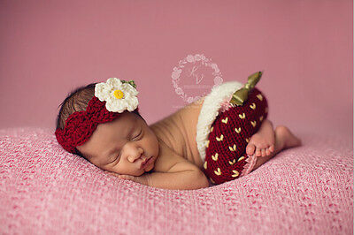 Newborn Baby  Infant Knitted Crochet Costume Photo Photography Prop A39