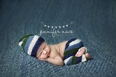 Newborn Baby  Infant Knitted Crochet Costume Photo Photography Prop A71