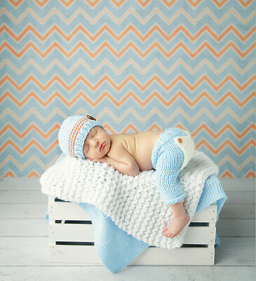 Newborn Baby  Infant Knitted Crochet Costume Photo Photography Prop A75