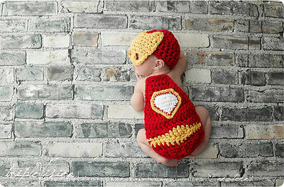 Newborn Baby  Infant Knitted Crochet Costume Photo Photography Prop A100