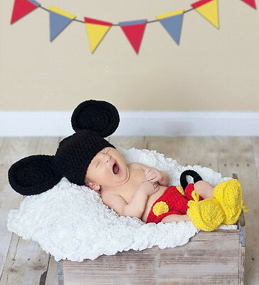 Newborn Baby  Infant Knitted Crochet Costume Photo Photography Prop A106