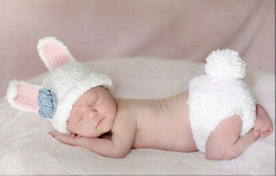 Newborn Baby  Infant Knitted Crochet Costume Photo Photography Prop A110