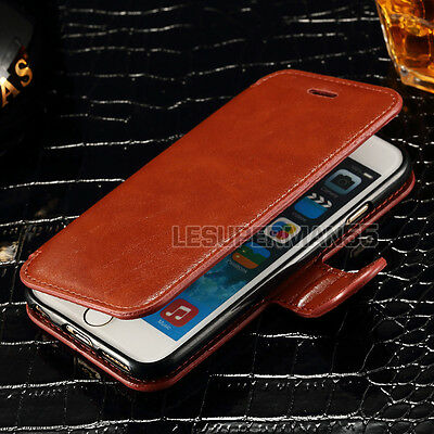 Real Genuine Luxury Wallet Flip Cover Leather Case For Samsung Galaxy Models