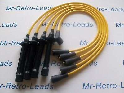 Yellow 8Mm Performance Ignition Leads For Triumph Dolomite Sprint Distributor