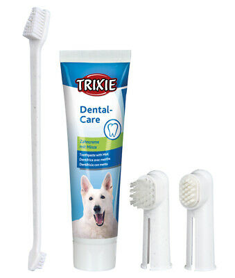 Trixie Puppy & Dog Dental Hygiene Set 2561 - Mint Toothpaste & Finger Toothbrush