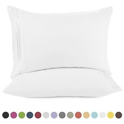 1800 Pillow Case Set Queen (standard) or King Pillowcase Set of 2 Pillow Cases