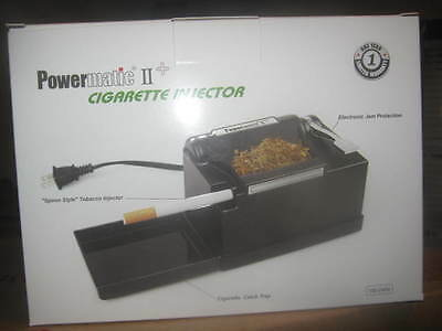 New Powermatic 2 Ii + Electric Cigarette Rolling Machine Make King & 100 Mm Cigs