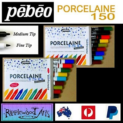 Pebeo Porcelaine 150 - Ceramic Painting Markers - 2 x Sets of 9