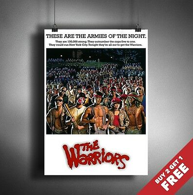 THE WARRIORS 1979 MOVIE POSTER A3 A4  Nostalgic Classic Cult Vintage Film Prints