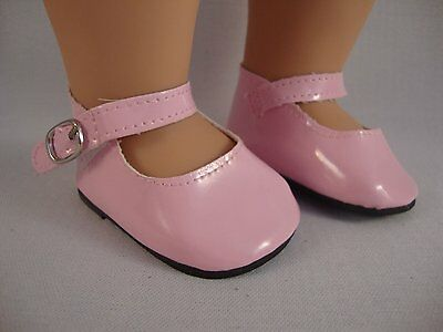 Shiny Patent Pink Dress Shoes for 18 Inch Doll Made for American Girl Doll