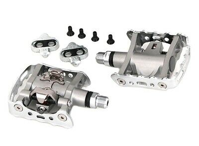 Shimano PD-M324 Silver SPD Clipless Pedals MTB Trail w. SH56 Cleats retail