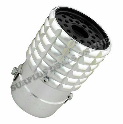 Silver Coloured Anodised Sports Exhaust Tip - USSS